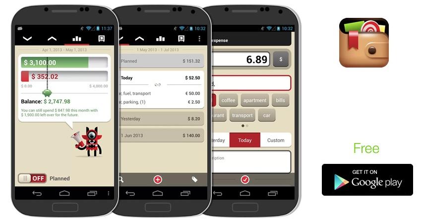 Toshl finance app