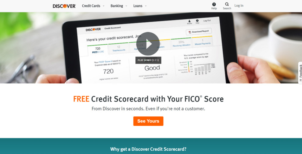 Discover free credit ccore