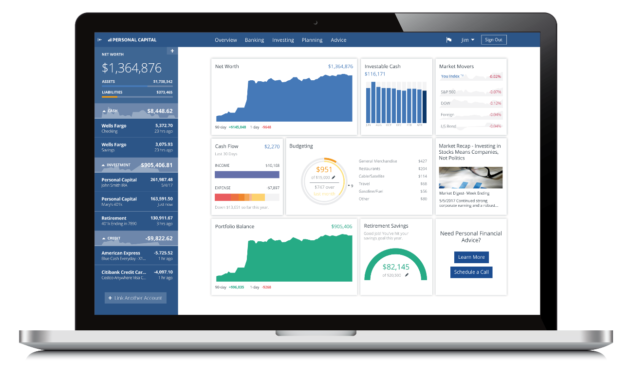 Personal Capital dashboard