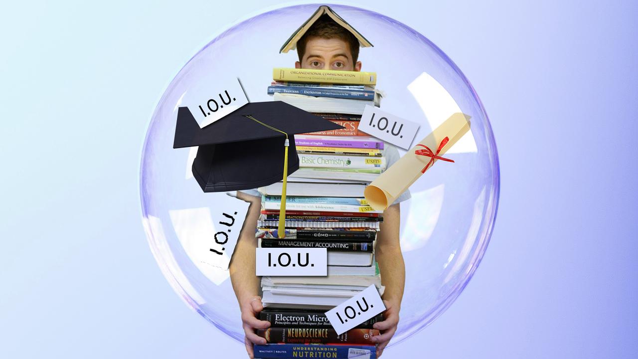 student in debt