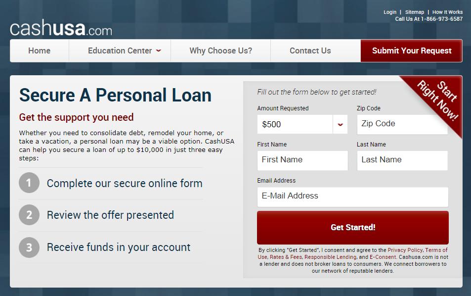 CashUSA website