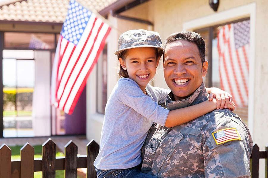 veteran with child